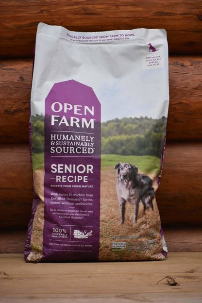 Senior recipe dog food open farms