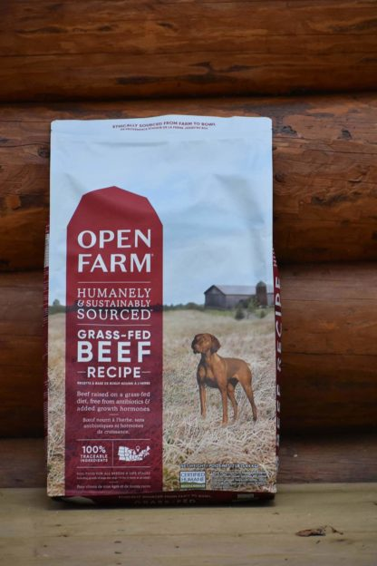 Grass-fed beef dog food