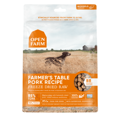 Open Farm Dog Freeze Dried Raw Farmer's Table Pork 1 Open Farm Dog Freeze Dried Raw Farmer's Table Pork