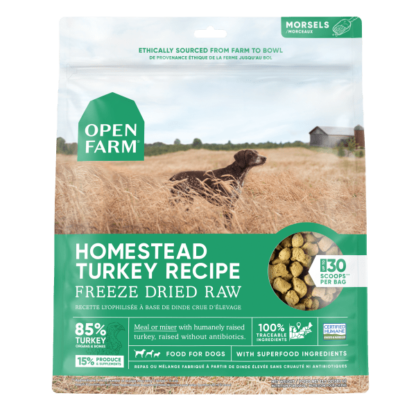 Open Farm Dog Freeze Dried Raw Homestead Turkey 1 Open Farm Dog Freeze Dried Raw Homestead Turkey