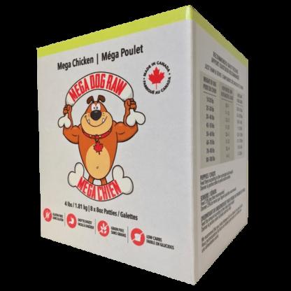 Mega Dog Raw Chicken Patties 1 Mega Dog Raw Chicken Patties