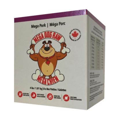Mega Dog Raw Pork Patties 1 Mega Dog Raw Pork Patties