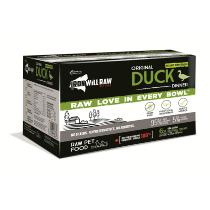 Iron Will Raw Dog GF Original Duck Dinner 6/1 lb 1 Iron Will Raw Dog GF Original Duck Dinner 6/1 lb